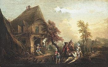 Elias Martin 1739-1818. Landskap med hus och
