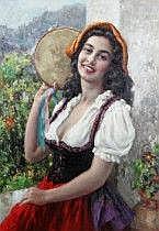 Luigio Amato Italien 1898-1961. Kvinna med