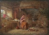 Alfred Provis England akt. 1843-1886 . Interiör