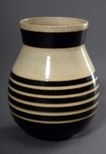 """Bollhagen, Hedwig (1907-2001) """"Vase 341"""" with decor 192, at the bottom various marks, h.15,5cm, fire crack at the bottom, former collection Prof. Johannes Weckerle/Hbg."""