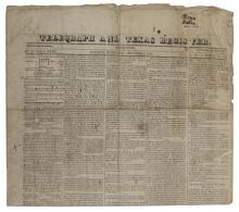 REPUBLIC OF TEXAS NEWSPAPER, DECEMBER 1844