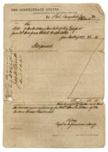 TEXAS CONFEDERATE PAYMENT FOR SLAVE LABOR, 1864