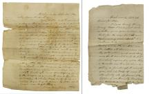 (2) TWO CONFEDERATE LETTERS, CONGRESSMAN, SOLDIER
