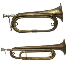 (2) BRASS BUGLES, ONE 1892 REPRODUCTION