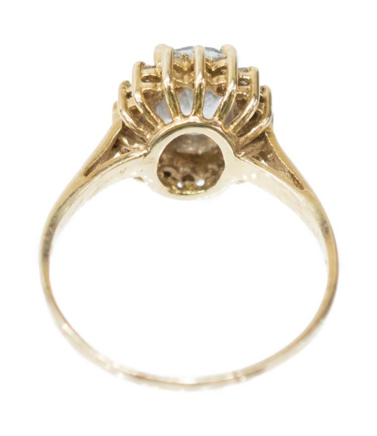 2 estate gemstone rings