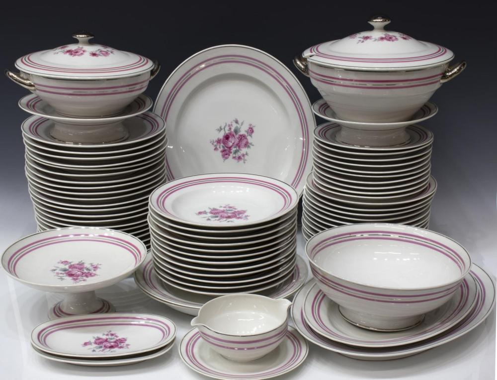 71) C AHRENFELDT LIMOGES PORCELAIN DINNER SERVICE