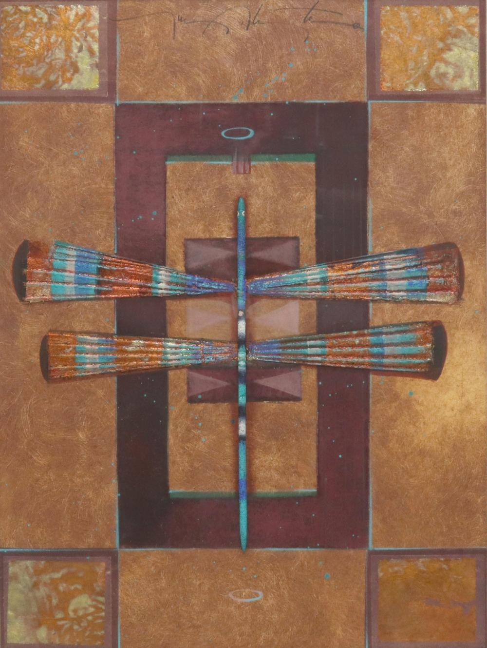 TONY ABEYTA (NAVAJO, B.1965) MIXED MEDIA DRAGONFLY