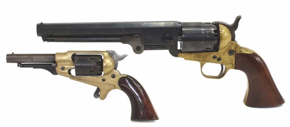 (2)ITALIAN COLT 1851 BLACK POWDER & CVA .32 PISTOL