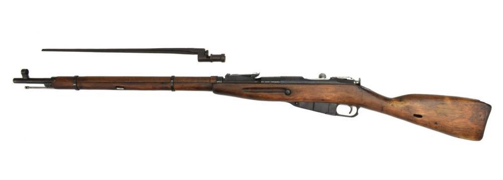 RUSSIAN MOSIN NAGANT 91/30 WWII RIFLE & BAYONET