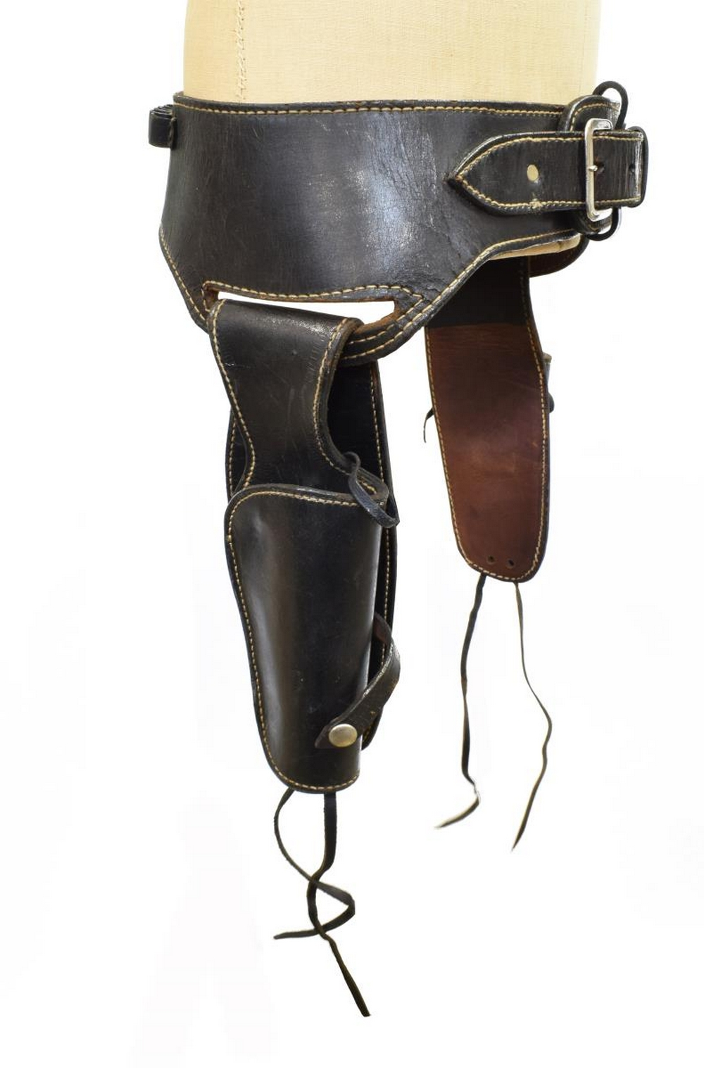 NORTH & JUDD DOUBLE HOLSTER .45 CARTRIDGE BELT