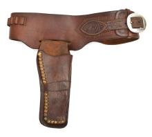 Lot 422: AMONETT & HUNTER HOLSTER CARTRIDGE BELT