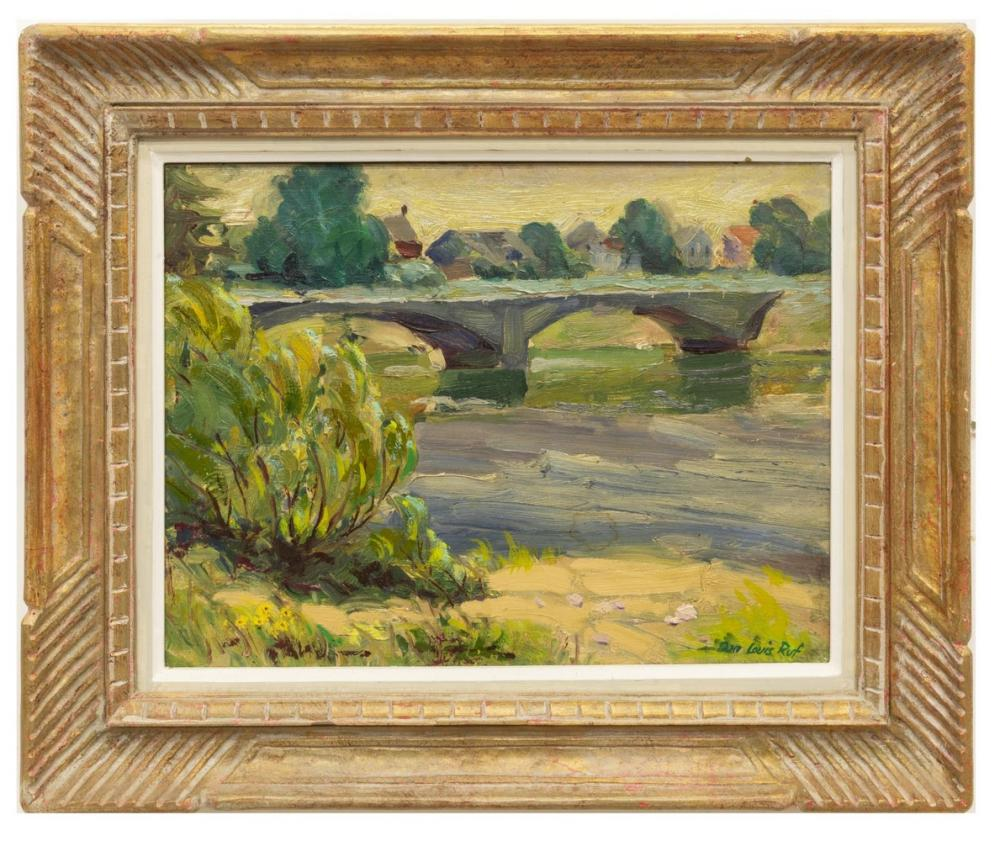 "Lot 436: DON LOUIS RUF (1905-1982) ""THE OLD FISHING HOLE"""