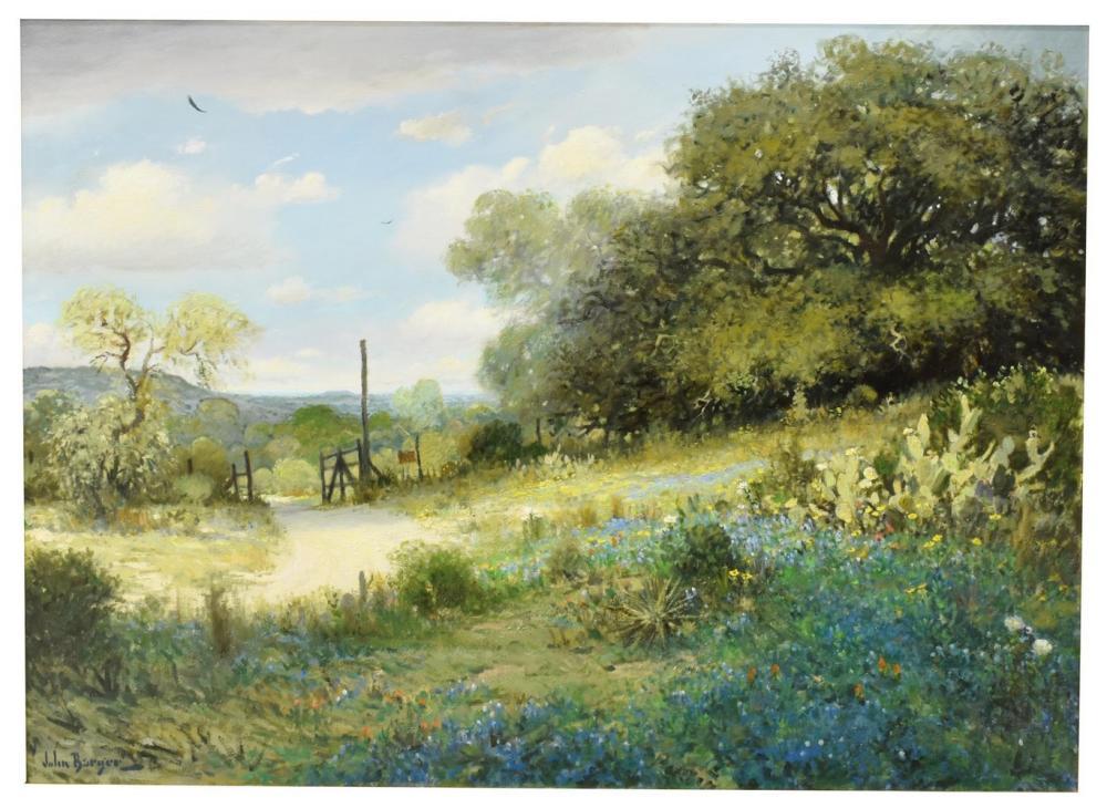 JOHN BARGER (B.1953) TEXAS BLUEBONNET LANDSCAPE