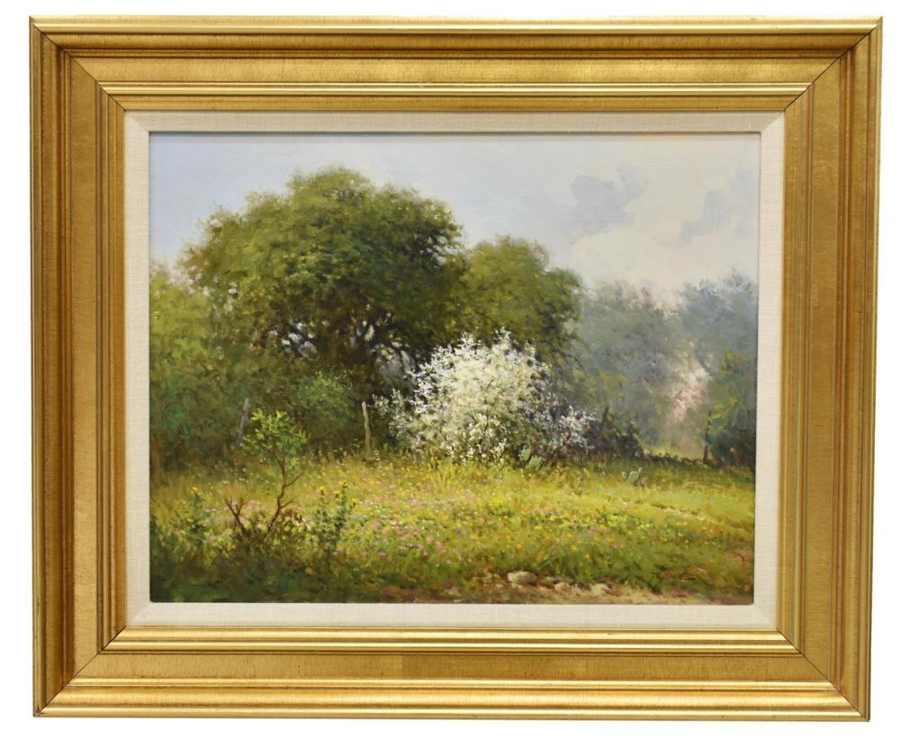Lot 438: JERRY RUTHVEN (TX, B.1947) HILL COUNTRY LANDSCAPE