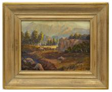 Lot 445: BILL CHAPPELL (1919-2010) WESTERN CAMP PAINTING