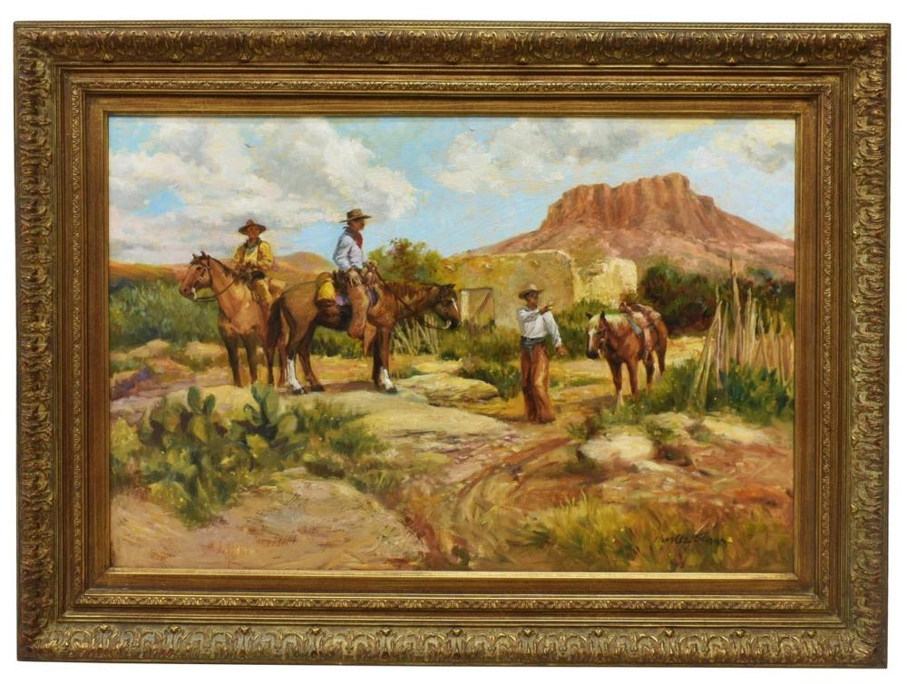 Lot 448: CHARLES SHAW (1941-2005) WESTERN, SEARCHING
