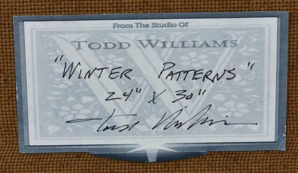 "Lot 450: TODD WILLIAMS (B.1967) ""WINTER PATTERNS"" CATTLE"