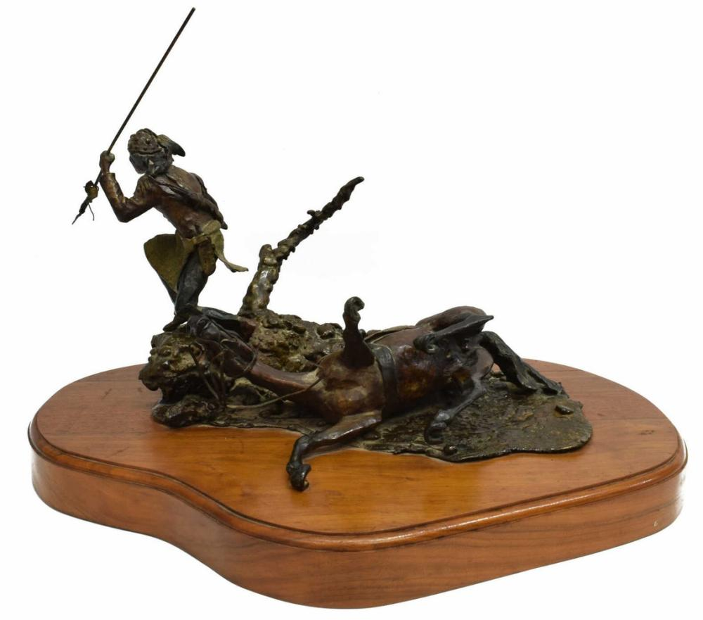 AUSTIN DEUEL (B.1939) WESTERN INDIAN, HORSE BRONZE