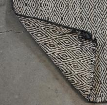 "Lot 455: NAVAJO DOUBLE SADDLE BLANKET, 4'10"" X 2'5"""