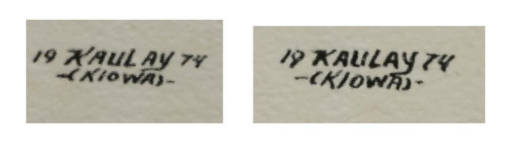 Lot 462: (2) SIGNED KIOWA DANCER WATERCOLOR PAINTINGS