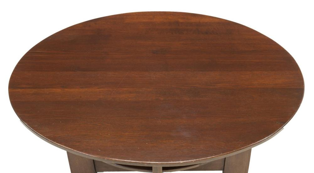 Lot 501: CRAFTSMAN STYLE OAK LIBRARY TABLE AFTER LIMBERT