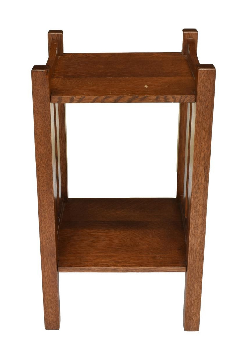 Lot 504: AMERICAN CRAFTSMAN OAK SLATTED STAND