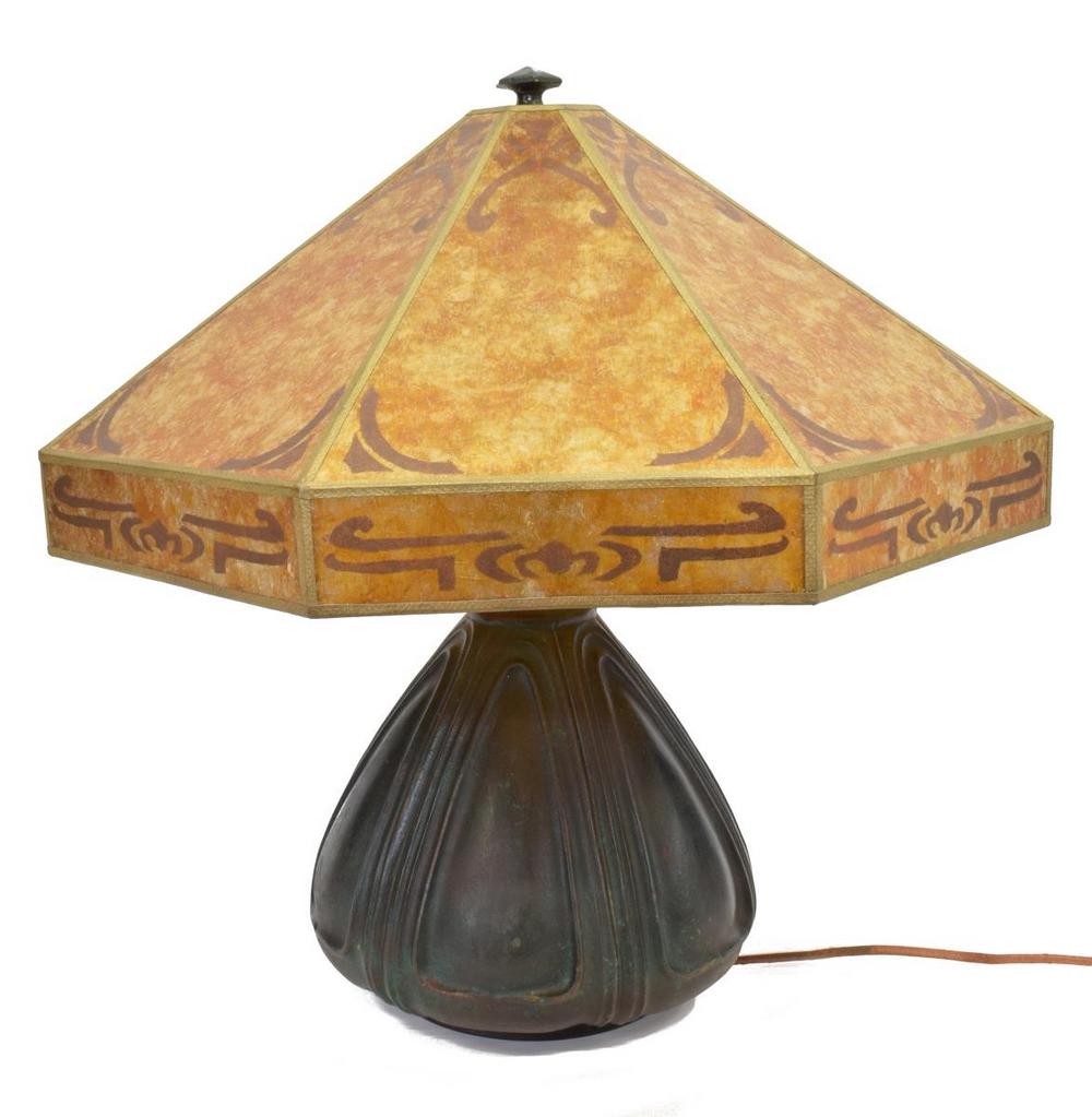 BRADLEY & HUBBARD ART NOUVEAU STYLE METAL LAMP