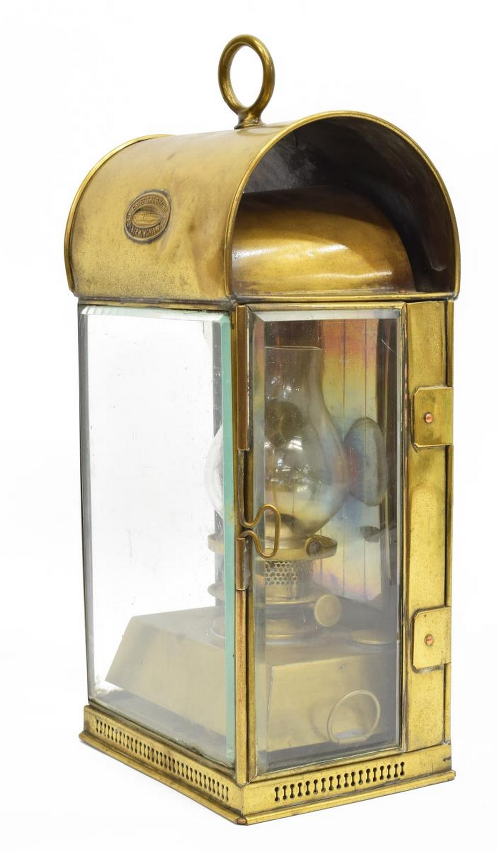 ELI GRIFFITHS & SON BRASS CARRIAGE LAMP LANTERN