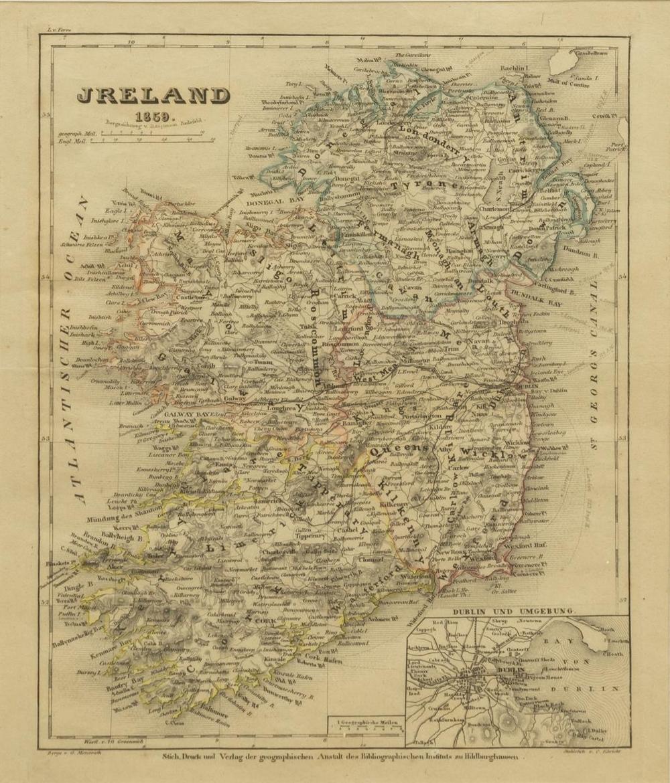 Lot 532: (8) GERMAN MEYER'S ATLAS ENGRAVED MAPS ON PAPER