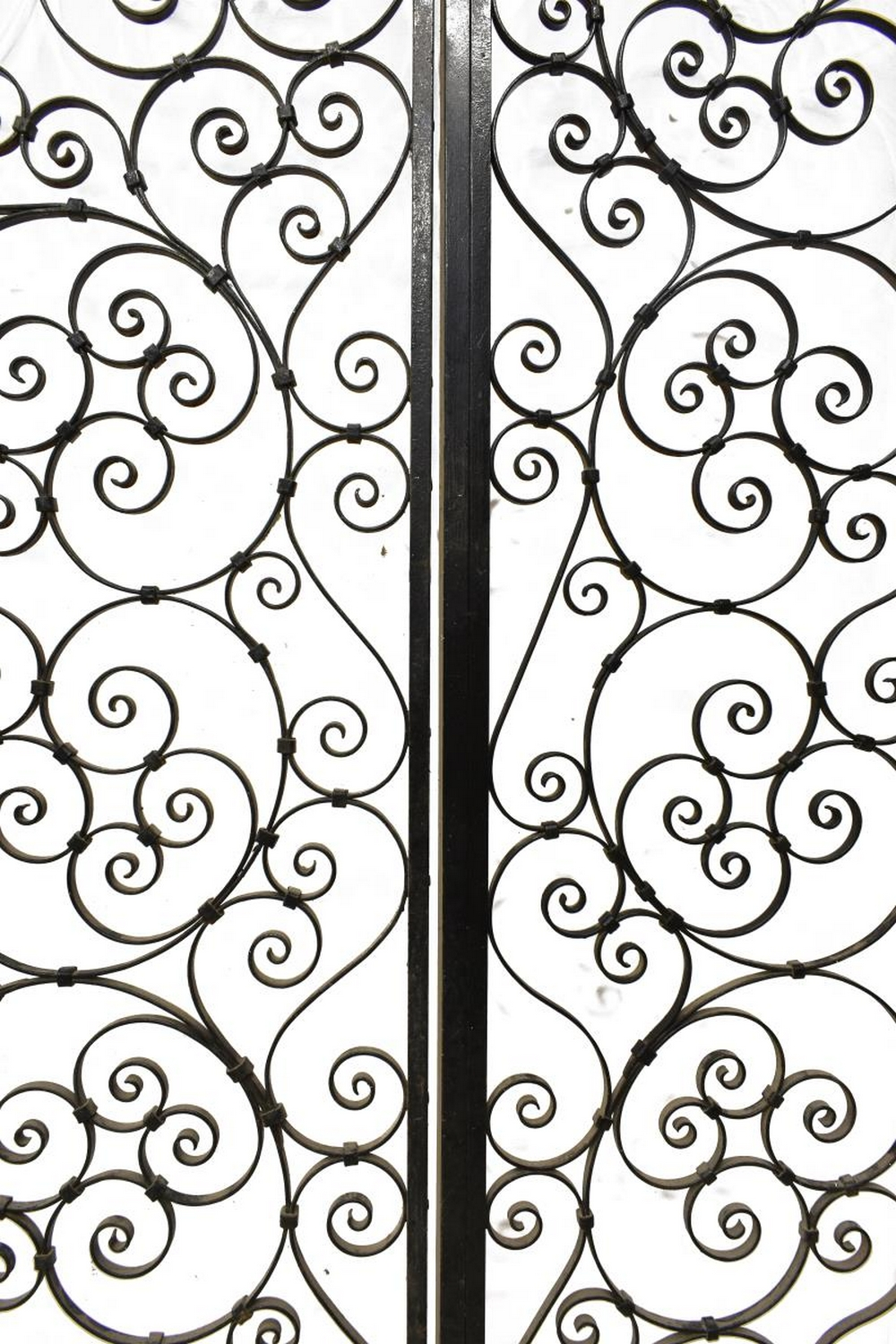"""Lot 536: FRENCH SCROLLED WROUGHT IRON GATE, 73.5"""" X 97.25"""""""