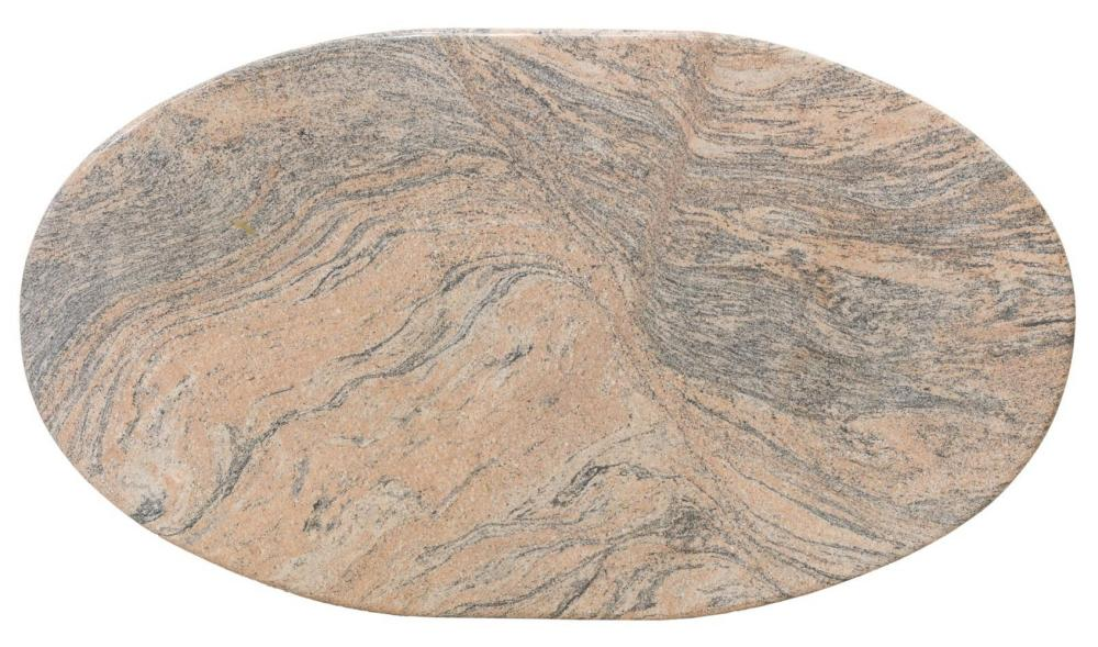 "LARGE PINK MARBLE SLAB TABLETOP, APPROX 44"" X 75"""