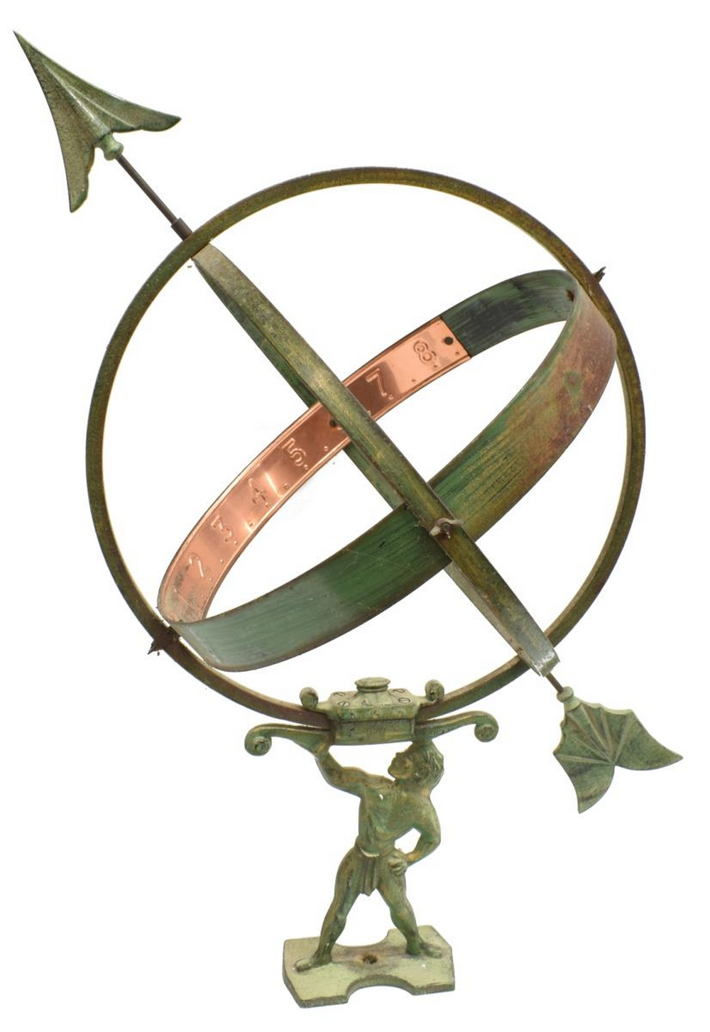 ARCHITECTURAL ARMILLARY SPHERE ATLAS SUNDIAL