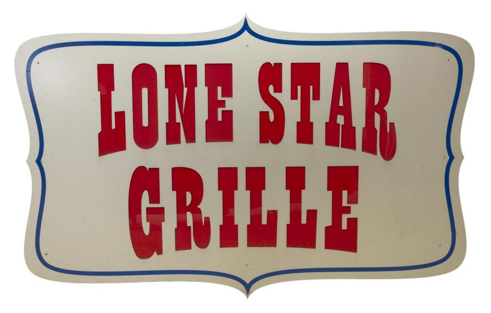 LARGE METAL 'LONE STAR GRILL' RESTAURANT SIGN