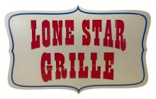 Lot 542: LARGE METAL 'LONE STAR GRILL' RESTAURANT SIGN