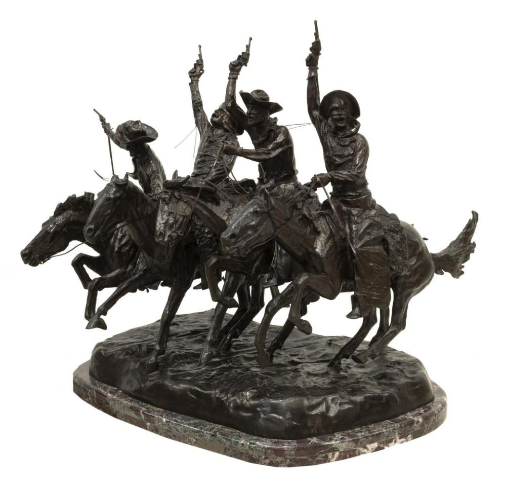 LARGE WESTERN BRONZE AFTER FREDERIC REMINGTON