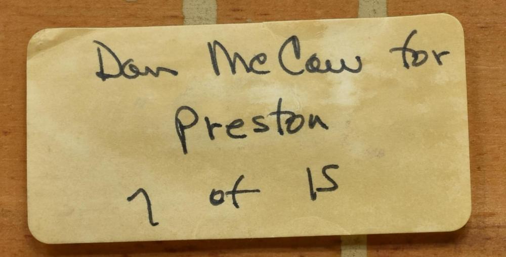 "Lot 552: DAN McCAW (B.1942) ""COMING OF THE WHITE MAN"""