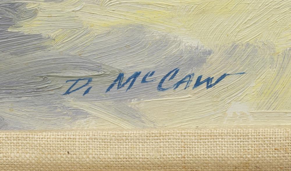"""Lot 562: DAN McCAW (B.1942) """"SUNDAY MORNING"""""""