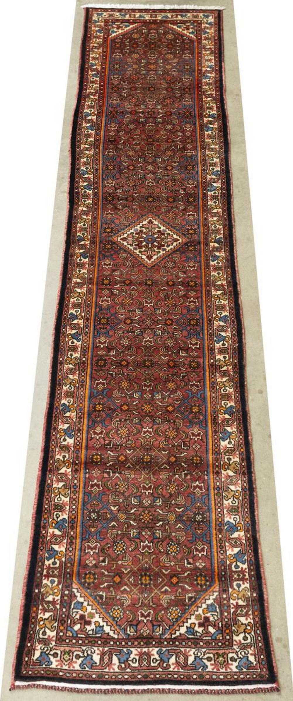 "HAND-TIED PERSIAN RUNNER RUG, 12'6"" X 2'8"""