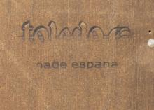 Lot 570: SPANISH TOLEDO WALNUT SECRETARY BOOKCASE, 20TH C.