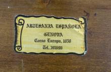 Lot 572: RUSTIC SPANISH BAROQUE STYLE HERALDIC BENCH