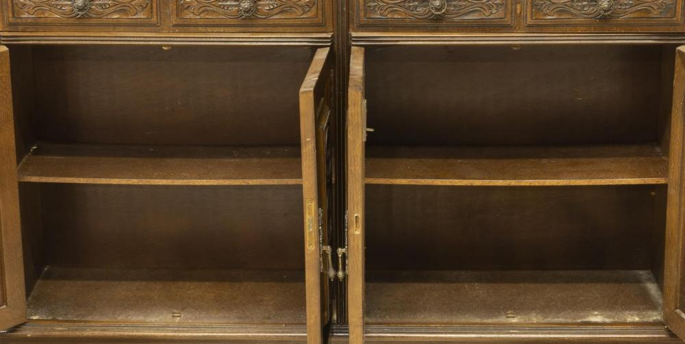Lot 576: SPANISH MARBLE-TOP CONSOLE CABINET