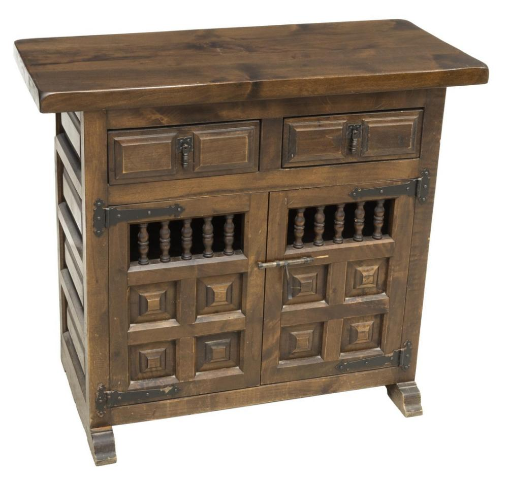 Lot 577: VINTAGE SPANISH WALNUT SIDEBOARD CABINET