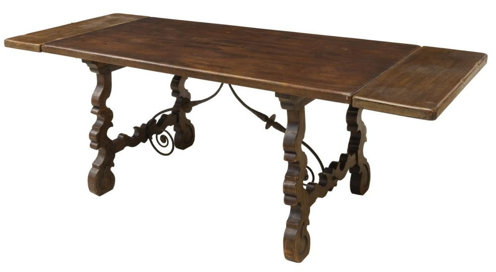 SPANISH BAROQUE STYLE EXTENSION DINING TABLE