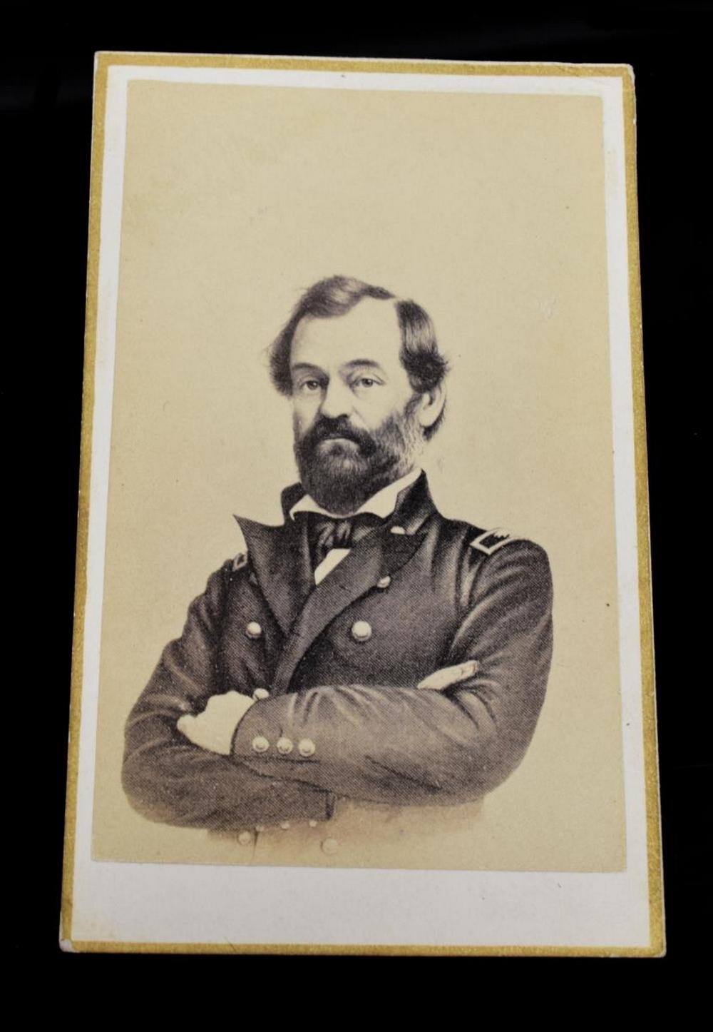 Lot 592: CIVIL WAR CDV MAJOR GENERAL. SAMUEL P. HEINTZELMAN