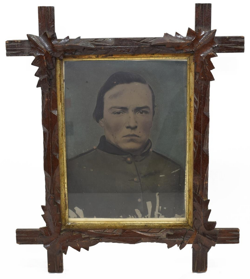 Lot 594: FULL PLATE TINTYPE, CONFEFDERATE SOLDIER