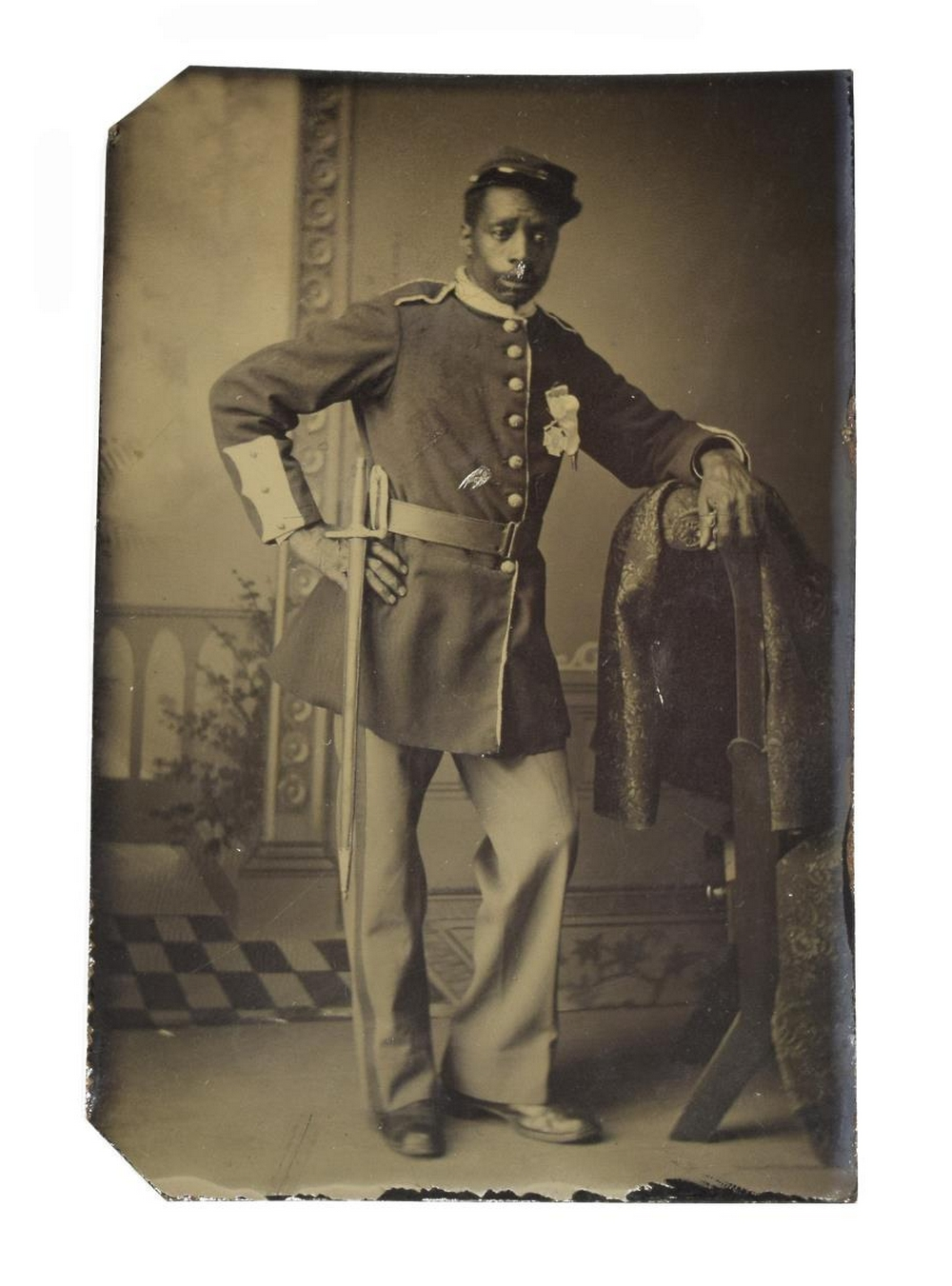 BLACK BUFFALO SOLDIER TINTYPE