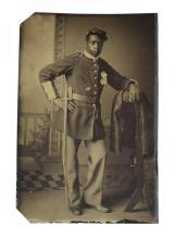 Lot 595: BLACK BUFFALO SOLDIER TINTYPE
