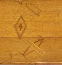 Lot 490: HOMAGE TO LINDBERG, 1927 FOLK ART ALLIGATOR TABLE