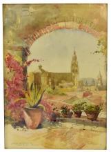 """LESLIE W. LEE (1871-1951), """"ROOF TOP, CUERNAVACA"""""""