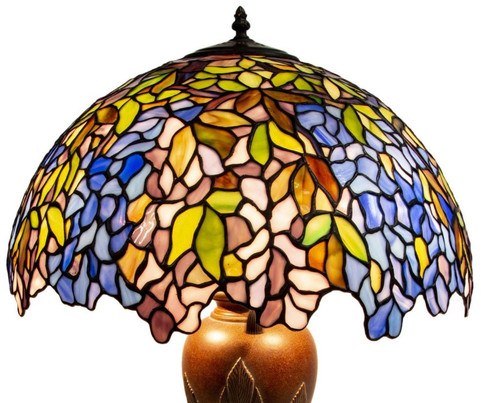 Quoizel Tiffany Style Three Light Table Lamp